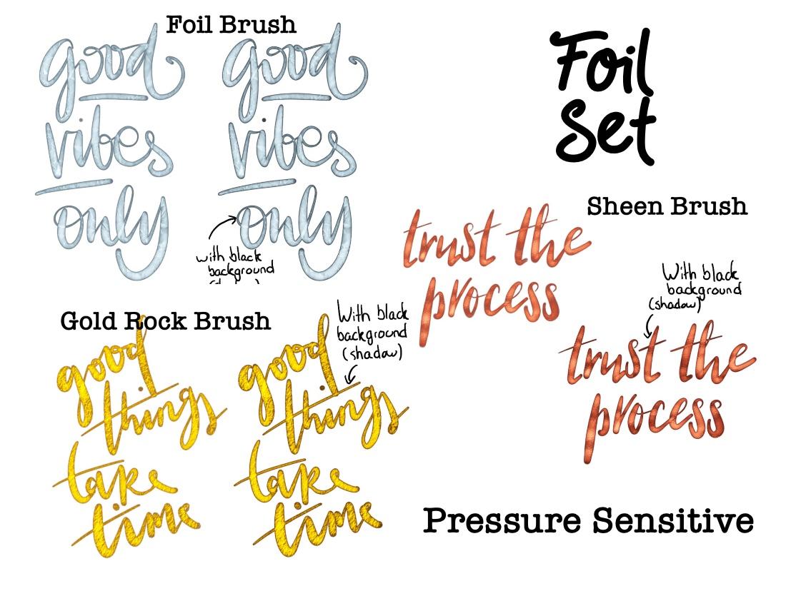 Shimmery Brush lettering Brush Auburn Sprinkle Brush Glitter Brush Procreate Brush Calligraphy Brush iPad Lettering
